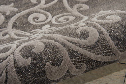 Nourison DAMASK DAS01 GREY Detail