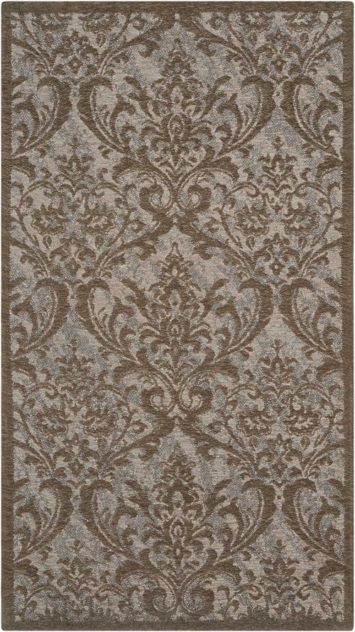 nourison damask das02 grey