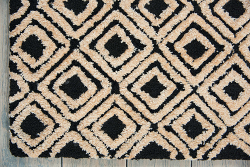 Nourison DECO MOD DEC02 BLACK/BEIGE Detail