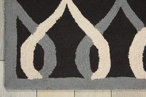 Nourison DECOR DER04 BLACK Detail