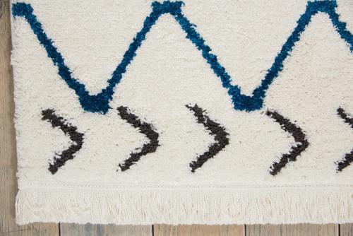 Nourison DWS05 KAMALA DS500 WHITE BLUE Detail