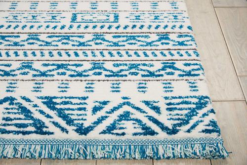 Nourison DWS05 KAMALA DS503 IVORY BLUE Detail
