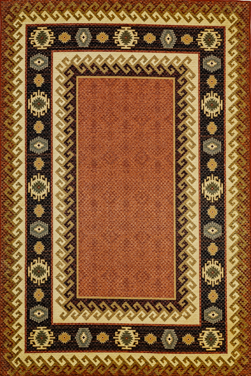 Dynamic FRONTIER 5212 BURGUNDY/BROWN Rug