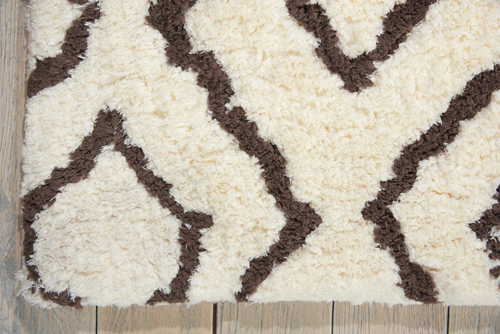 Nourison GALWAY GLW03 IVORY/CHOCOLATE Detail