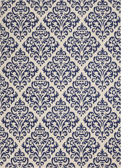 nourison grafix grf06 white blue