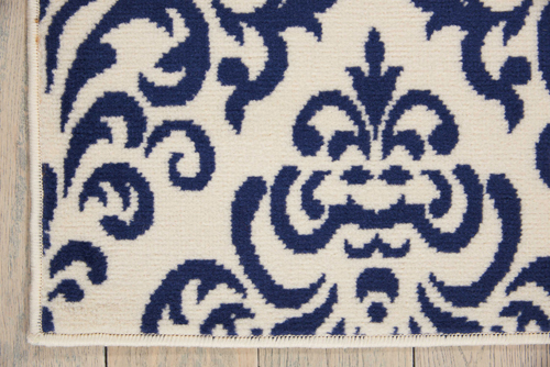 Nourison GRAFIX GRF06 WHITE BLUE Detail