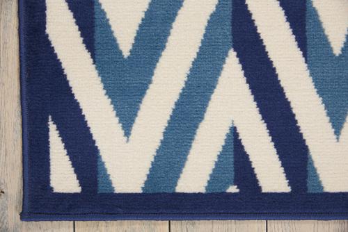Nourison GRAFIX GRF18 WHITE BLUE Detail
