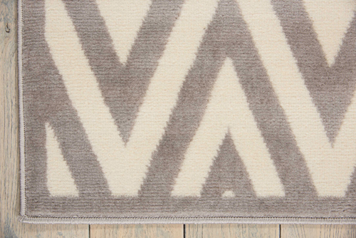Nourison GRAFIX GRF18 WHITE/GREY Detail
