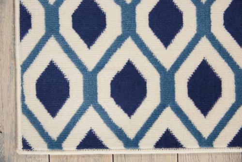 Nourison GRAFIX GRF22 WHITE/NAVY Detail