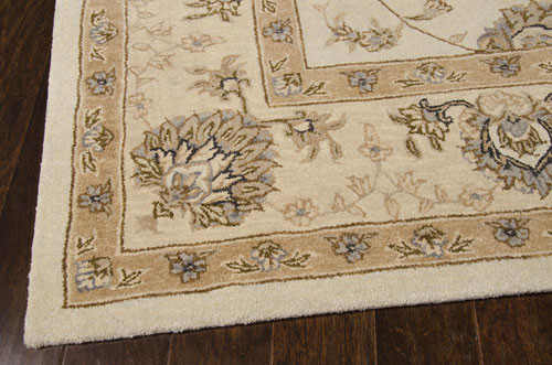 Nourison HERITAGE HALL HE28 CREAM Detail