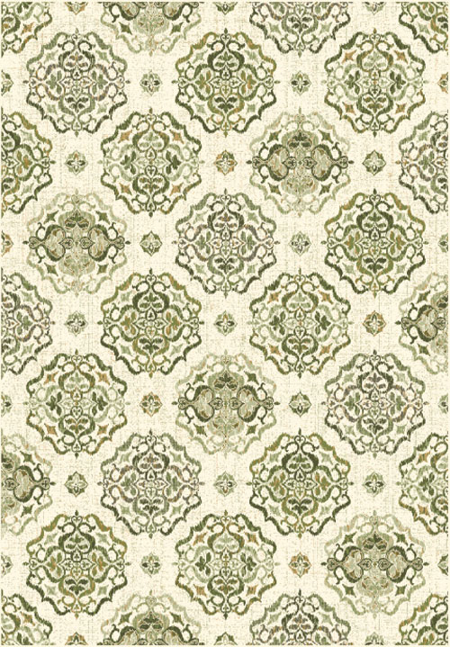 Dynamic HERITAGE 89474 IVORY/GREEN Rug