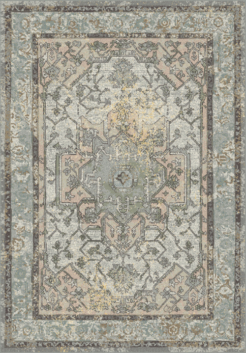 Dynamic HORIZON 988465 BLUE GREY/MULTI Rug