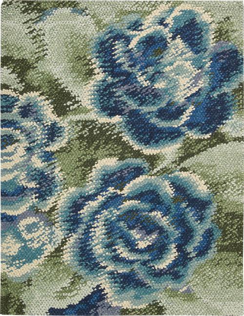 Nourison IMPRESSIONIST IMPR1 GREEN BLUE Rug
