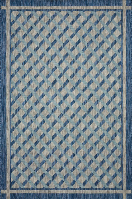 loloi isle ie-07 blue / grey