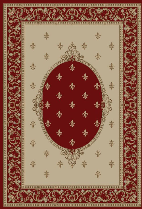 concord global jewel fleur de lys medallion red