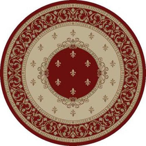 concord global jewel fleur de lys medallion red