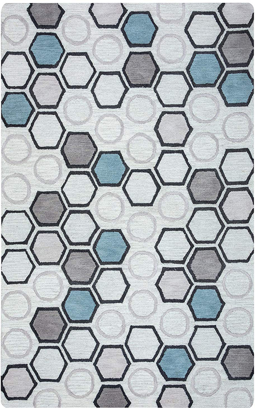 Rizzy Home Light Gray Rug Arden Loft Lisbon Corner Lc9433