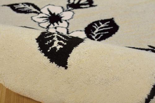 Nourison MODERN ELEGANCE LH08 BLACK/WHITE Detail