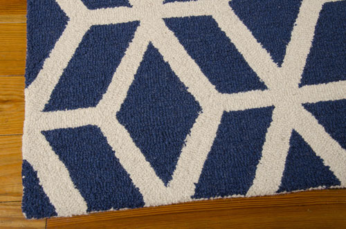 Nourison LINEAR LIN01 BLUE/IVORY Detail