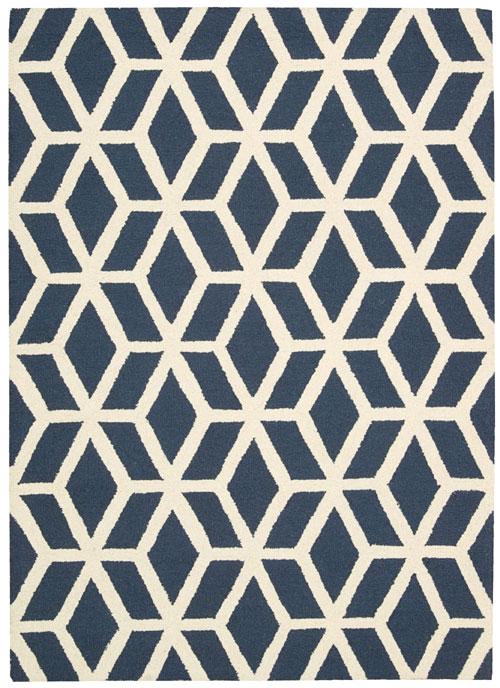 nourison linear lin01 blue/ivory