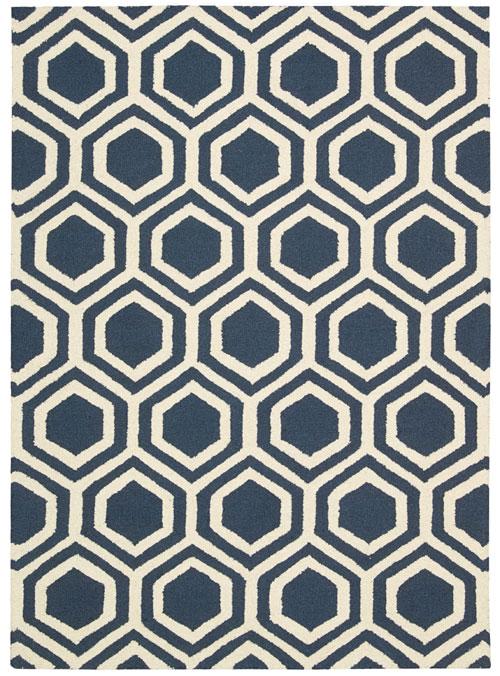 Nourison Blue Ivory Rug Linear Lin01 The Rug Corner