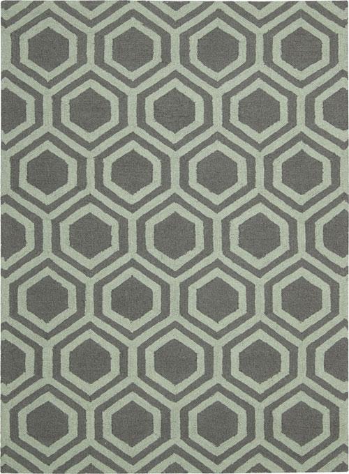nourison linear lin07 grey/aqua