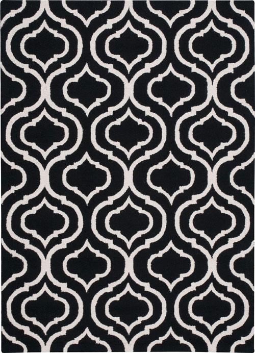 nourison linear lin15 black/white