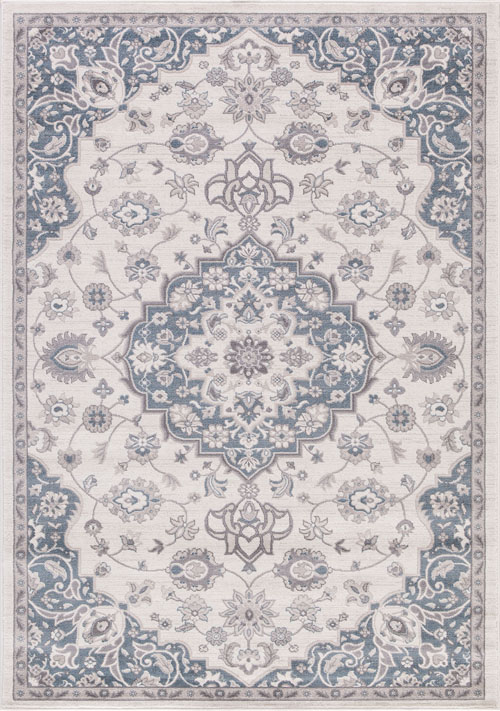 concord global lara center medallion ivory-blue