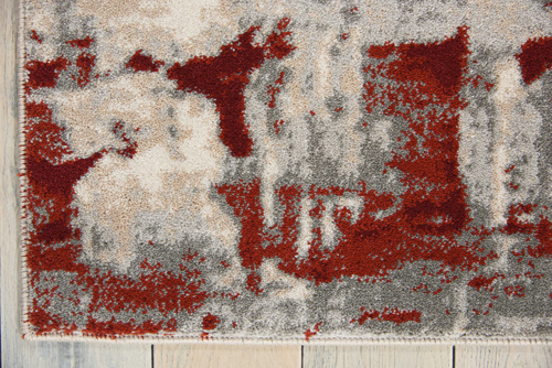 Nourison MAXELL MAE14 IVORY RED Detail