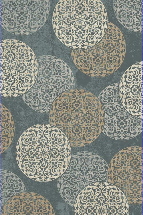 Dynamic MELODY 985014 BLUE Rug