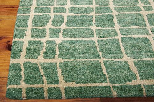 Nourison TAHOE MODERN MTA03 TURQOIS GREEN Detail