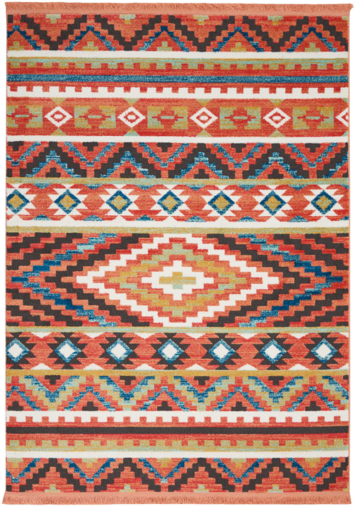nourison navajo nav04 orange