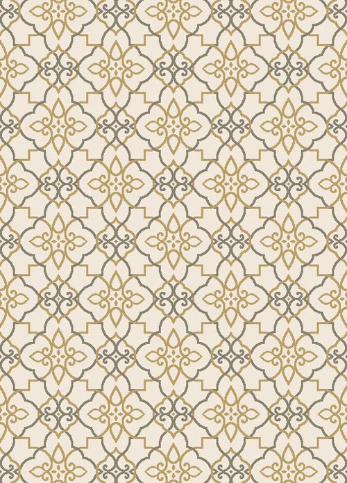 concord global new casa trellis ivory-yellow
