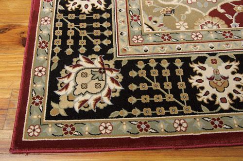 Nourison PERSIAN CROWN PC004 BLACK Detail