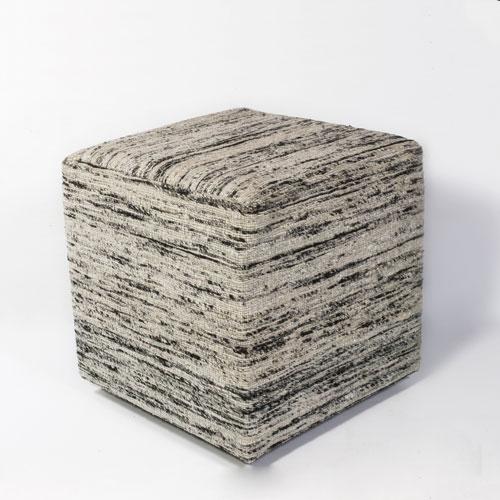 kas poufs pouf f803 black & white pouf