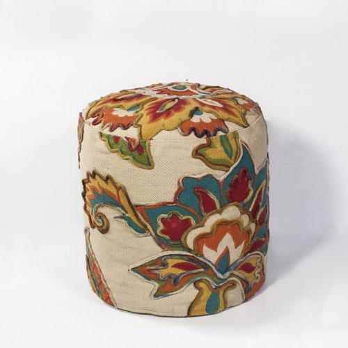 kas poufs pouf f819 ivory pouf