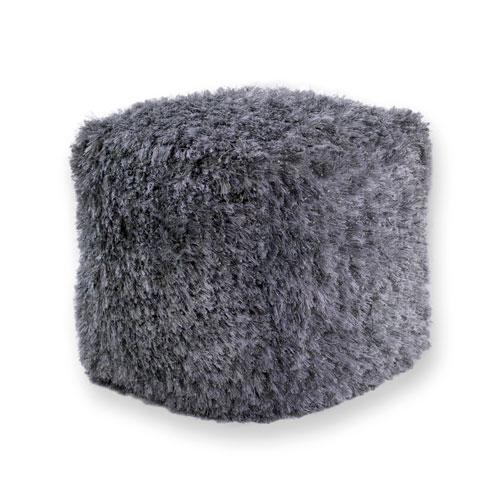 kas poufs pouf f851 silver pouf
