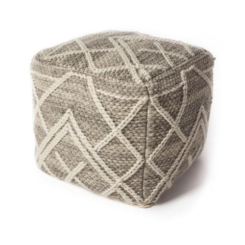 kas poufs pouf f861 grey pouf