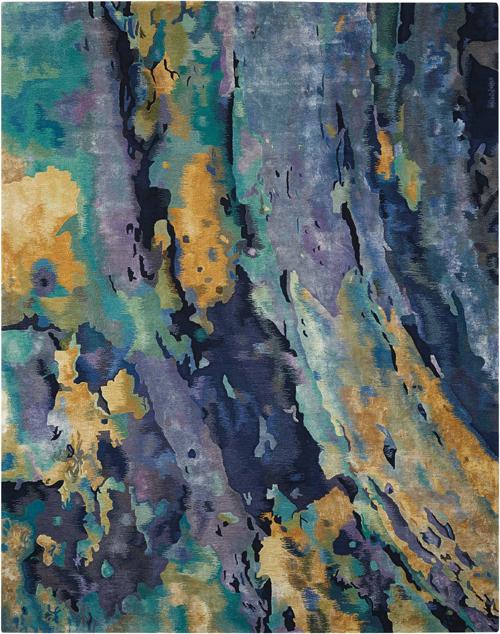 Nourison PRISMATIC PRS09 SILVER/BLUE Rug