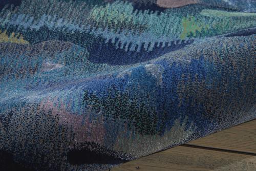 Nourison PRISMATIC PRS09 SILVER/BLUE Detail