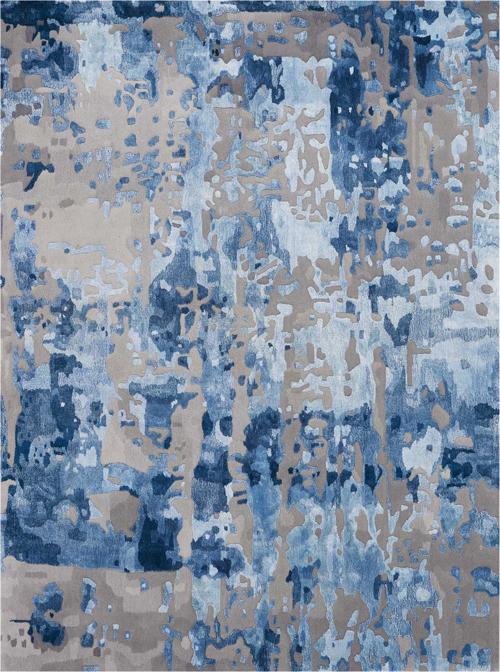 nourison prismatic prs10 blue/grey