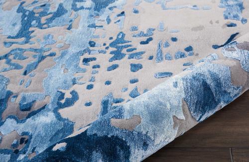 Nourison PRISMATIC PRS10 BLUE/GREY Detail