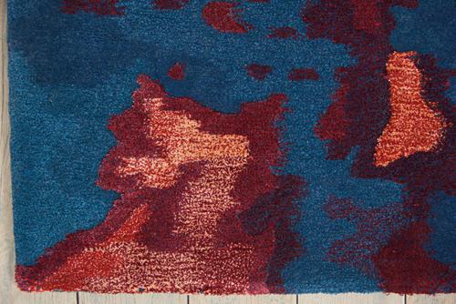 Nourison PRISMATIC PRS13 BLUE FLAME Detail