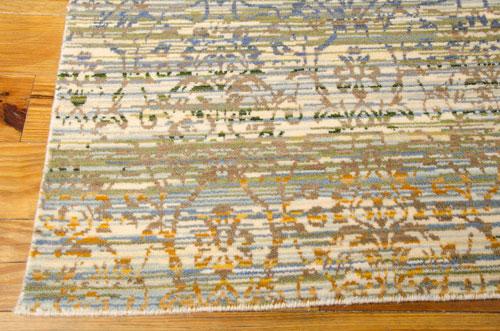 Nourison RHAPSODY RH003 BEIGE BLUE Detail