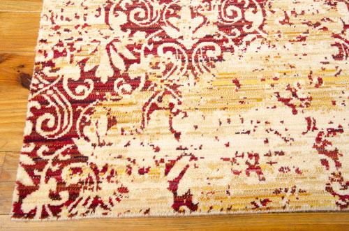 Nourison RHAPSODY RH005 GOLD/GARNET Detail