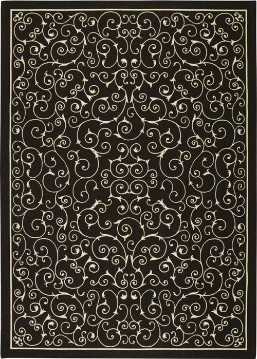 nourison home & garden rs019 black