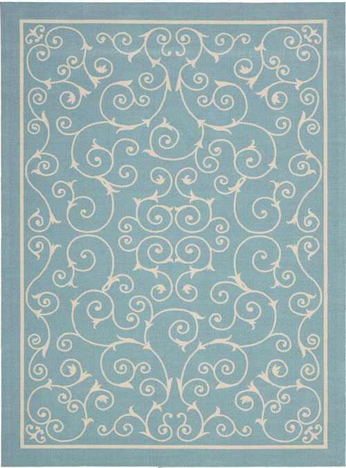 nourison home & garden rs019 light blue