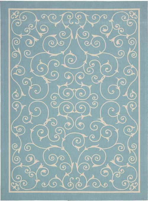nourison home & garden rs019 light blue