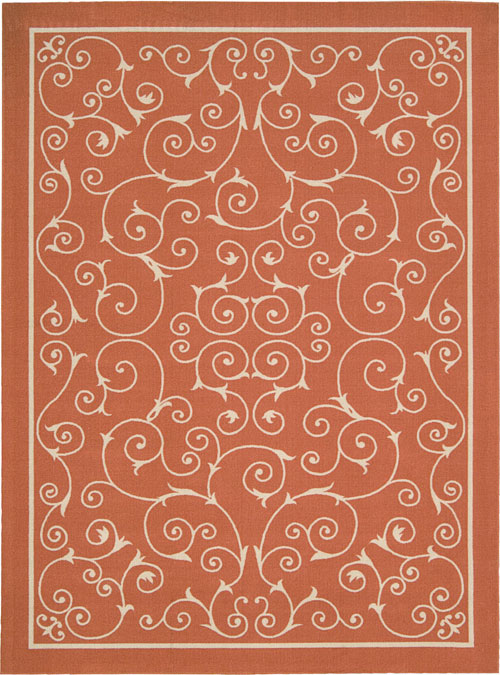 nourison home & garden rs019 orange