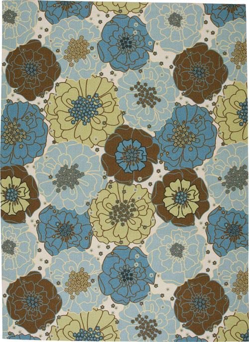 nourison home & garden rs021 light blue